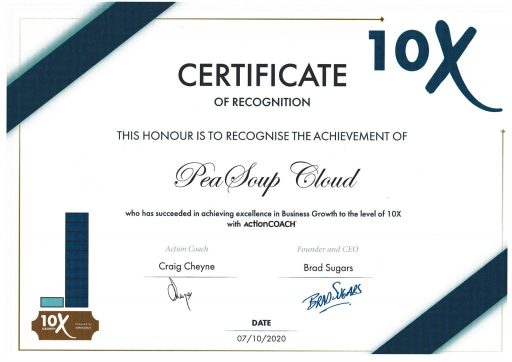 PeaSoup received ActionCoach Award